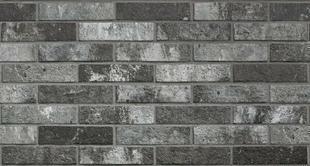 Briquettes en grès cérame émaillé LONDON BRICK larg.6cm long,25cm coloris charcoal - Gedimat.fr
