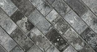 Briquettes en grès cérame émaillé LONDON BRICK larg.13cm long,25cm coloris charcoal - Gedimat.fr