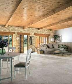 Carrelage pour sol intérieur en grès cérame coloré dans la masse naturel rectifié REDEN dim.60cm long.60cm coloris ivory - Gedimat.fr