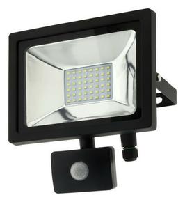 Projecteur LED 20W noir avec détecteur - Gedimat.fr