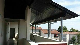 Lambris sous face PVC extérieur ép.10 mm larg.250 mm utile (264,5 hors tout) long.4 m Gris anthracite - Gedimat.fr