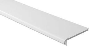 Planche de rive PVC alvéolaire Long.4 x Larg.0,2 m Ep.10 mm Blanc - Gedimat.fr