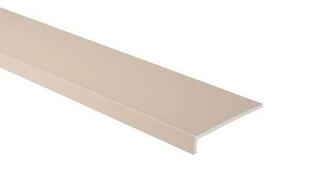 Planche de rive PVC cellulaire à clouer ép.9 mm larg.200 mm long.4 m Sable - Gedimat.fr