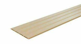 Lambris sous face PVC extérieur ép.10 mm larg.250 mm utile (264,5 hors tout) long.4 m Sable - Gedimat.fr