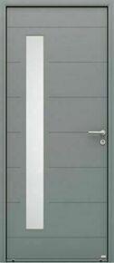 Porte d'entrée ALBE en aluminium thermolaqué  droite poussant haut.2,15m larg.90cm - Gedimat.fr