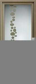 Porte d'entrée ETINCELLE en aluminium thermolaqué droite poussant haut.2,15 m larg.90cm - Gedimat.fr