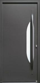 Porte d'entrée AZUR en aluminium thermolaqué droite poussant haut.2,15m larg.90cm - Gedimat.fr