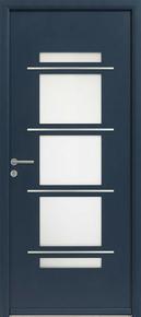Porte d'entrée VOLT en aluminium thermolaqué droite poussant haut.2,15m larg.90cm - Gedimat.fr