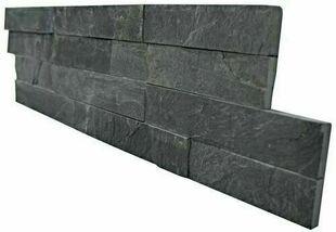 """Plaquette de parement LAVA format """"Z"""" Dim.15 x 55-60 x 1-2 cm ardoise - Gedimat.fr"""
