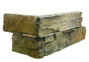 """Plaquette de parement BANDA format """"Z"""" dim.15 x 55-60 x 2-4 cm Gneiss et ardoise - Gedimat.fr"""