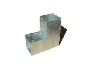 Connecteur 2D en L en acier galvanisé pour poteau 9x9cm dim.20x20x9cm - Gedimat.fr
