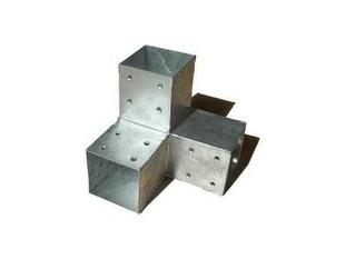 Connecteur 3D en Y en acier galvanisé pour poteau 9x9cm dim.20x20x20cm - Gedimat.fr
