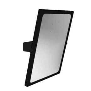 Miroir inclinable LEONARDO long.46cm haut.56cm noir - Gedimat.fr