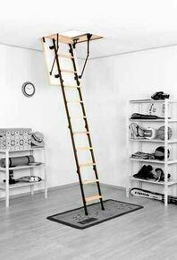 Escalier escamotable MICRO4P en sapin/métal trémie 80x60cm haut.2,65m - Gedimat.fr