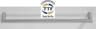 Porte serviette 1 barre NEX YORK diam.19mm long.425mm fintion satin - Gedimat.fr