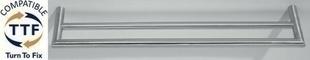 Porte serviette 2 barres NEX YORK diam.19mm long.500mm fintion satin - Gedimat.fr