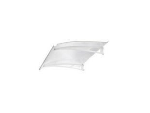 Marquise contemporaine en acier laqué blanc LINE180 prof.90cm long.1,80m - Gedimat.fr
