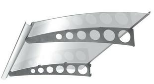 Marquise contemporaine en acier inoxydable USAIE200 prof.90cm long.2,00m - Gedimat.fr