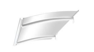 Marquise contemporaine en acier laqué blanc avec Leds ISIS prof.90cm long.1,50m - Gedimat.fr
