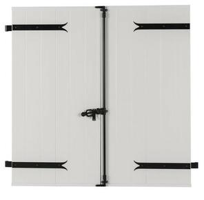 Volet battant PVC ép.24mm blanc 2 vantaux haut.1,75m larg.90cm - Gedimat.fr