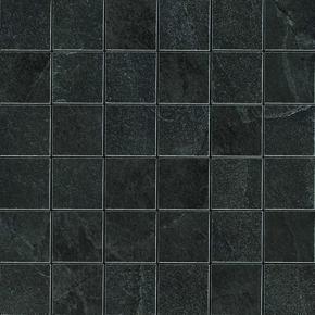 Mosaïque pour sol intérieur en grès cérame coloré dans la masse rectifié X-ROCK dim.30x30cm coloris noir - Gedimat.fr