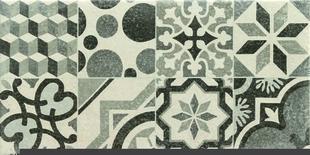 Décor TREND pour mur en faïence mate TREND larg.25cm long.50cm coloris gris - Gedimat.fr