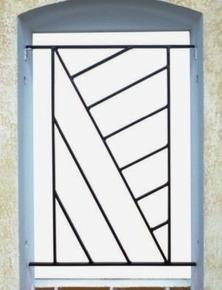 Grille de défense en acier prépeint OMEGA haut.45cm larg.1,20m - Gedimat.fr