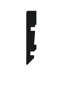 Plinthe MDF mélaminé pour sol stratifié PRISMA 732 ép.15mm larg.80mm long.2.50m Chambord - Gedimat.fr
