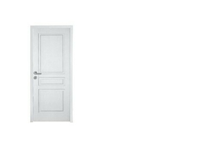 Bloc-porte alvéolaire postformé RENNES prépeint blanc à recouvrement huisserie Créaconfort 73x55mm droit poussant - 204x63cm - serrure PDDT - Gedimat.fr