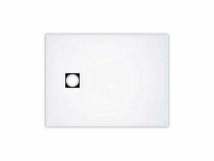 Revêtement de douche prêt à poser vidage excentré FUNDO TOP long.120cm larg.90cm blanc - Gedimat.fr