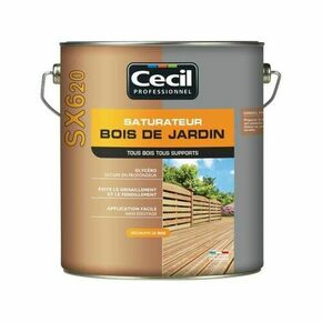 Saturateur bois de jardin SX620 pot de 5L naturel - Gedimat.fr