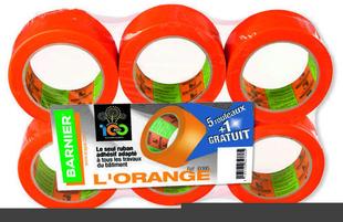 Ruban adhésif SCAPA 6095 larg.75mm long.33m orange - lot de 6 rouleau - Gedimat.fr