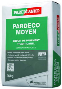 Enduit de parement traditionnel PARDECO MOYEN sac de 25kg coloris T27 - Gedimat.fr