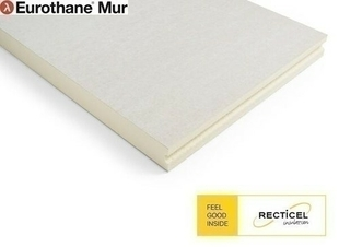 Mousse polyuréthane EUROTHANE MUR BR - 2,60x1,20m Ep.110mm - R=5,00m².K/W - Gedimat.fr