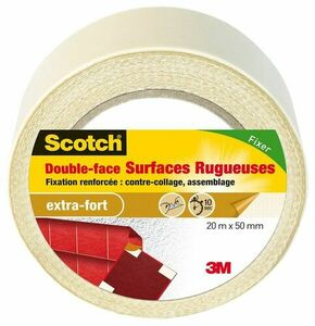 DOUBLE FACE SURFACES RUGUEUSES 7,5MX32MM - Gedimat.fr