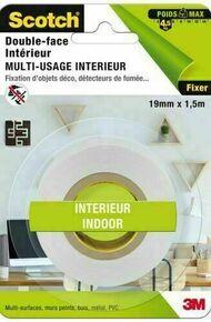 DOUBLE FACE INTERIEUR BLANC 1,5MX19MM - Gedimat.fr