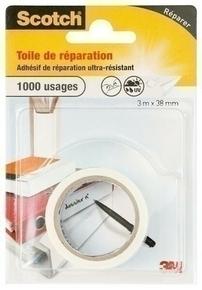 TOILE DE REPARATION BLANC 3X38 - Gedimat.fr