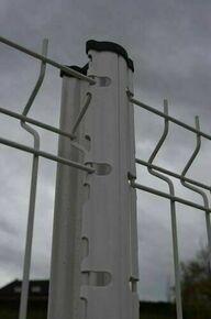 Poteau GIGA à encoches en acier galvanisé haut.1,60m anthracite RAL 7016 brillant - Gedimat.fr