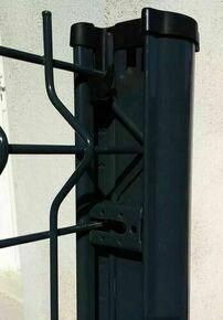 Poteau GIGA à clips en acier galvanisé haut.1,60m anthracite RAL 7016 brillant - Gedimat.fr