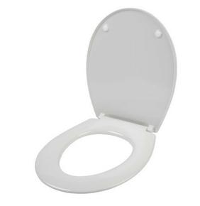 Abattant WC universel k charniere inox blanc - Gedimat.fr