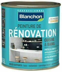 Peinture de rénovation cuisine/bains satin gris lin - pot 0,5l - Gedimat.fr