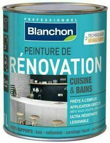 Peinture de rénovation cuisine/bains satin marron glacé - pot 1l - Gedimat.fr