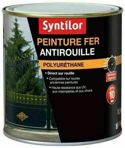 Peinture fer SYNTILOR ultra protect noir satiné - pot 0,5l - Gedimat.fr