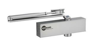 Ferme-porte hydraulique DESIGN réversible argent avec bras standard force 2 à 4 - Gedimat.fr