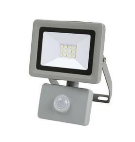 Projecteur LED 10W detec 6500K 800LM IP44 Noir - Gedimat.fr