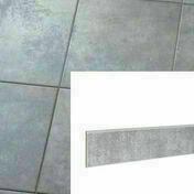 Plinthe pour carrelage sol PLATINE en grès cérame émaillé haut.8cm larg.34cm coloris Acier - Gedimat.fr