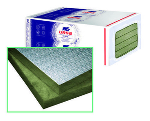Laine de verre URSA ALU revêtue kraft - 1,5x1m Ep.50mm - R=1,40m².K/W. - Gedimat.fr