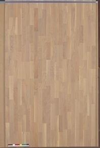 Parquet contrecollé SAMBA click en HDF ép.10mm larg.14cm long.1,19m chêne blanchi verni - Gedimat.fr