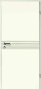 Bloc-porte WESTALINE huisserie cloison 100mm finition laqué blanc haut.204cm larg.83cm droit poussant - Gedimat.fr