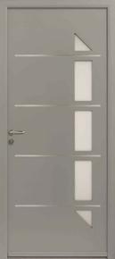 Porte d'entrée GLAM en aluminium droite poussant haut.2.15m larg.90cm laqué blanc - Gedimat.fr
